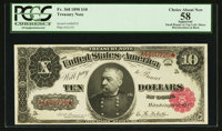 Fr. 368 $10 1890 Treasury Note PCGS Apparent Choice About New 58