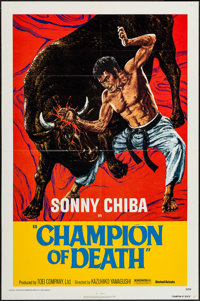 "Champion of Death & Other Lot (United Artists, 1976). One Sheet (27"" X 41"") & Photos (10) (8&q..."