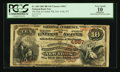National Bank Notes:New York, New York, NY - $10 1882 Brown Back Fr. 485 The Hide & Leather NB Ch. # 4567. ...