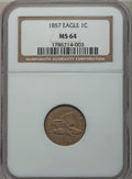 Flying Eagle Cents: , 1857 1C MS64 NGC. NGC Census: (896/233). PCGS Population (962/203).Mintage: 17,450,000. Numismedia Wsl. Price for problem ...