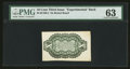 Milton 3E10R.2 10¢ Third Issue Experimental Back on Bristol Board PMG Choice Uncirculated 63