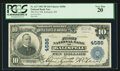 National Bank Notes:Montana, Kalispell, MT - $10 1902 Plain Back Fr. 627 The First NB Ch. #4586. ...