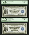 Large Size:Federal Reserve Bank Notes, Fr. 729 $1 1918 Federal Reserve Bank Note Cut Sheet of Four PCGS About New 53-Very Choice New 64.. ... (Total: 4 notes)