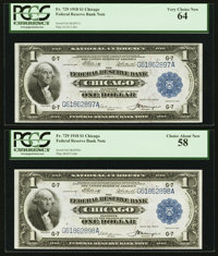 Fr. 729 $1 1918 Federal Reserve Bank Note Cut Sheet of Four PCGS About New 53-Very Choice New 64