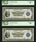 Fr. 712 $1 1918 Federal Reserve Bank Note Cut Sheet of Four PCGS Choice About New 58