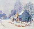 Fine Art - Painting, American:Modern  (1900 1949)  , EDWARD K. WILLIAMS (American, 1870-1950). Brown County Homesteadin Winter, circa 1920. Oil on canvas. 20 x 24 inches (5...