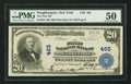 Poughkeepsie, NY - $20 1902 Plain Back Fr. 650 The First NB Ch. # 465