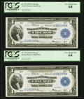 Large Size:Federal Reserve Bank Notes, Fr. 729 $1 1918 Federal Reserve Bank Note Cut Sheet of Four PCGS Choice New 63-Very Choice New 64.. ... (Total: 4 notes)