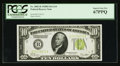 Small Size:Federal Reserve Notes, Fr. 2002-B $10 1928B Light Green Seal Federal Reserve Note. PCGS Superb Gem New 67PPQ.. ...