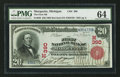 National Bank Notes:Michigan, Marquette, MI - $20 1902 Red Seal Fr. 639 The First NB Ch. # (M)390. ...
