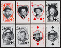 """Non-Sport Cards:Sets, 1950's Exhibit """"Western Aces"""" Playing Cards Plus Complete Set (64). ..."""