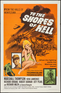 "To the Shores of Hell (Crown International, 1966). One Sheet (27"" X 41""). War"