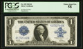 Large Size:Silver Certificates, Fr. 239 $1 1923 Silver Certificate PCGS Choice About New 58.. ...