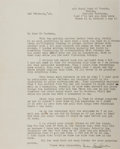 """Miscellaneous:Ephemera, Ivan Sanderson. Typed Letter Signed. Single sheet, 8"""" x 10"""". MaySecond, 1940. Letter to a correspondent regarding a vacatio..."""