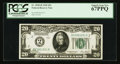 Small Size:Federal Reserve Notes, Fr. 2050-B $20 1928 Federal Reserve Note. PCGS Superb Gem New 67PPQ.. ...