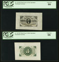 Fractional Currency:Third Issue, Fr. 1227SP 3¢ Third Issue Wide Margin Pair PCGS Gem New 66.. ... (Total: 2 notes)
