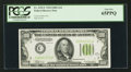 Small Size:Federal Reserve Notes, Fr. 2152-C $100 1934 Light Green Seal Federal Reserve Note. PCGS Gem New 65PPQ.. ...
