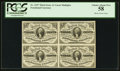 Fractional Currency:Third Issue, Fr. 1227 3¢ Third Issue Block Of Four PCGS Choice About New 58.. ...