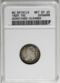 Bust Dimes: , 1820 10C Large 0--Cleaned, Scratched--ANACS. AU Details, Net XF45.NGC Census: (7/174). PCGS Population (3/109). Mintage: 9...