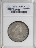 Early Half Dollars: , 1805 50C --Cleaned--ANACS. VF30 Details. O-106. NGC Census:(78/193). PCGS Population (25/131). Mintage: 211,722. Numismedi...