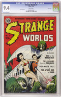 Golden Age (1938-1955):Science Fiction, Strange Worlds #1 Carson City pedigree (Avon, 1950) CGC NM 9.4White pages. If the lurid cover by Gene Fawcette and the fant...