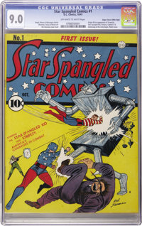 Star Spangled Comics #1 Mile High pedigree (DC, 1941) CGC VF/NM 9.0 Off-white to white pages. The Star-Spangled Kid and...