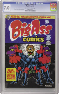 Big Ass Comics #1 and 2 First Printing Group (Rip Off Press, 1969-71). This collection of first printing copies of Rober...