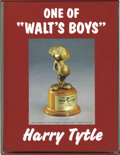 "Books:Fine Press and Limited Editions, One of ""Walt's Boys"" by Harry Tytle, Slipcase Edition (1997). Arare edition of Harry Tytle's memoir of his 40-plus years as..."