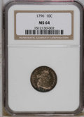 Early Dimes: , 1796 10C MS64 NGC. NGC Census: (20/17). PCGS Population (7/9).Mintage: 22,135. Numismedia Wsl. Price: $29,500. (#4461)...