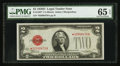 Small Size:Legal Tender Notes, Fr. 1505* $2 1928D Legal Tender Note. PMG Gem Uncirculated 65 EPQ.. ...