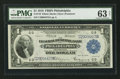 Fr. 716 $1 1918 Federal Reserve Bank Note PMG Choice Uncirculated 63 Net