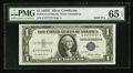 Small Size:Silver Certificates, Solid Serial Number G77777777I Fr. 1614 $1 1935E Silver Certificate. PMG Gem Uncirculated 65 EPQ.. ...