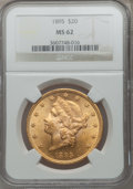 Liberty Double Eagles: , 1895 $20 MS62 NGC. NGC Census: (8863/3773). PCGS Population(6052/1953). Mintage: 1,114,656. Numismedia Wsl. Price for prob...