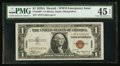 Small Size:World War II Emergency Notes, Fr. 2300* $1 1935A Hawaii Silver Certificate. PMG Choice Extremely Fine 45 EPQ.. ...