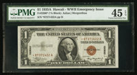 Fr. 2300* $1 1935A Hawaii Silver Certificate. PMG Choice Extremely Fine 45 EPQ