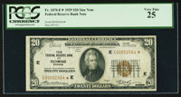 Fr. 1870-E* $20 1929 Federal Reserve Bank Note. PCGS Very Fine 25