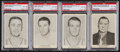 Basketball Cards:Lots, 1955 Ashland/Aetna Oil Basketball PSA Group (4). ...