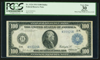 Fr. 1124 $100 1914 Federal Reserve Note PCGS Apparent Very Fine 30