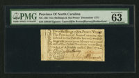 North Carolina December, 1771 2s 6d PMG Choice Uncirculated 63 EPQ