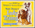"""Movie Posters:Animation, Lady and the Tramp (Buena Vista, 1955). Half Sheet (22"""" X 28"""").Animation.. ..."""