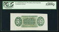 Fractional Currency:Third Issue, Fr. 1331SP 50¢ Third Issue Spinner Wide Margin Green Back PCGS About New 53PPQ.. ...