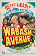 "Movie Posters:Musical, Wabash Avenue (20th Century Fox, 1950). One Sheet (27"" X 41""). Musical.. ..."