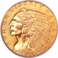 Indian Quarter Eagles, 1911-D $2 1/2 MS63 PCGS. CAC....