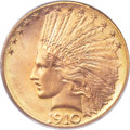 Indian Eagles, 1910-D $10 MS66 PCGS. CAC....