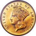 Three Dollar Gold Pieces, 1873 $3 Closed 3 MS63 PCGS....
