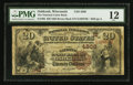 National Bank Notes:Wisconsin, Oshkosh, WI - $20 1882 Brown Back Fr. 498 The National Union Bank Ch. # (M)4508. ...