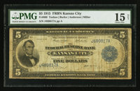 Fr. 800 $5 1915 Federal Reserve Bank Note PMG Choice Fine 15 Net