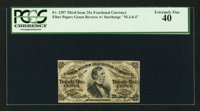 Fr. 1297 25¢ Third Issue PCGS Extremely Fine 40
