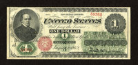 Fr. 16 $1 1862 Legal Tender Fine-Very Fine. Nice inks remain while the circulation is evenly distributed among this Ace...