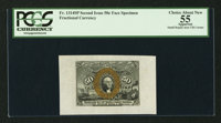 Fr. 1314SP 50¢ Second Issue Wide Margin Face PCGS Apparent Choice About New 55